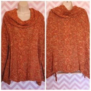 Free People Poncho Style Wool Sweater Size S